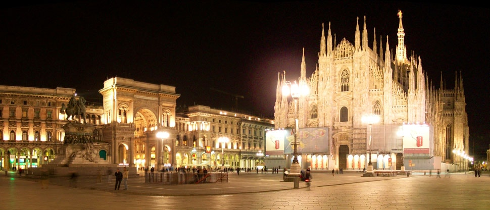 milano at night